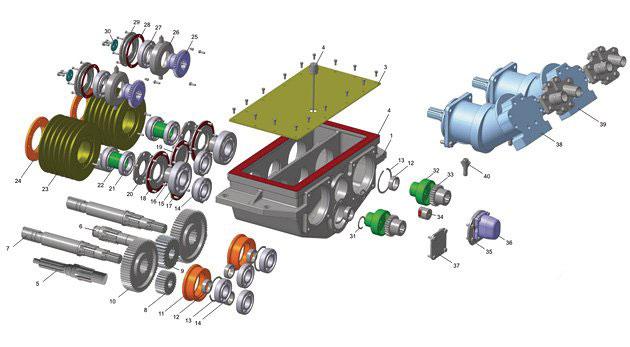 Коробка раздаточная 2-43А-00 (3D-модель)